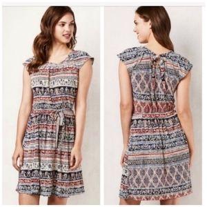 LC Lauren Conrad Plisse Pleat Neck Dress Size L.